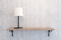 Table lamp on the shelf Stock Photography