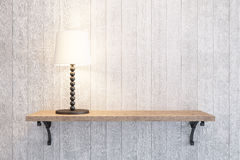 Table lamp on the shelf Royalty Free Stock Photography