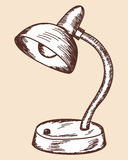 Table lamp sketch Royalty Free Stock Photos