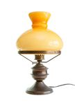 Table lamp stylized as antique oil lamp isolated Royalty Free Stock Photography