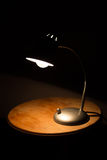 Lamp on wooden table Royalty Free Stock Images