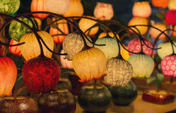 Table lamps on display in Seoul Royalty Free Stock Images