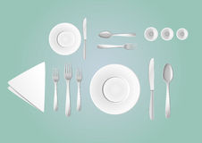 Table layout Royalty Free Stock Images