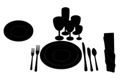 Table layout Royalty Free Stock Image