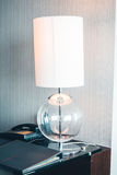 Table light lamp decoration. Interior - Vintage light Filter Stock Image