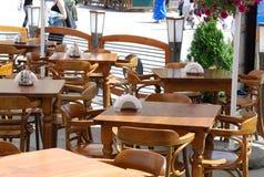 Table in little restaurant Stock Image