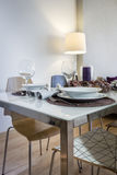 Table in living room ready for a dinner Royalty Free Stock Photography