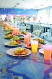 Table with lot catering food Royalty Free Stock Images