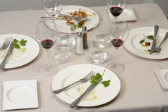 Table after lunch Royalty Free Stock Images