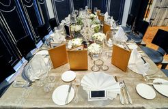 Luxury dinner party Royalty Free Stock Images
