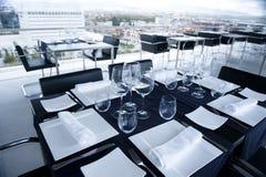 Table in luxury restaurant Stock Photo