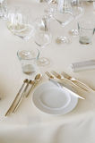 Table at luxury restaurant Royalty Free Stock Photography