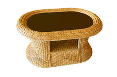 Table made of bamboo Royalty Free Stock Images