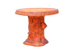 Table made from concrete. Made to resemble wood , with clipping path royalty free stock photos