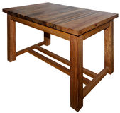 Table made from real walnut wood royalty free stock image