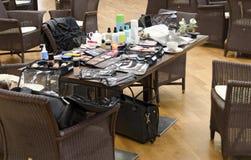 Table of a makeup-artist Stock Photos