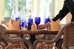 Table manner. Photograph of restaurant table manner Stock Photos