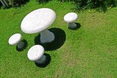 Table marble mushroom Stock Image