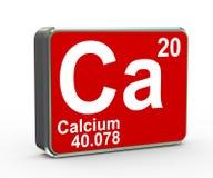 table matérielle de période de calcium de l'élément 3d chimique