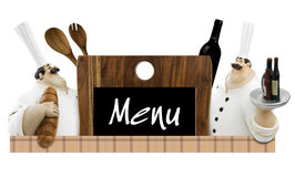 Table menu Royalty Free Stock Photos