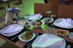 Table with meze Royalty Free Stock Photography