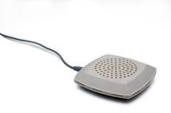 Table mic. On white background on corner Royalty Free Stock Photo