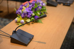 Table microphone Royalty Free Stock Images