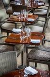 Table in modern restaurant Stock Images