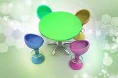 Table moderne de barre Images stock