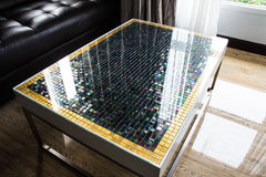 Table mosaic in living room Royalty Free Stock Images