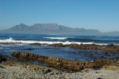 Table Mountain. As see from Robben Island Royalty Free Stock Photos