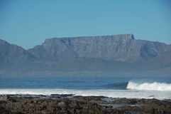 Table Mountain. Seen from Robben Island Stock Photo