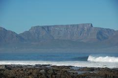Table Mountain. Seen from Robben Island stock photo