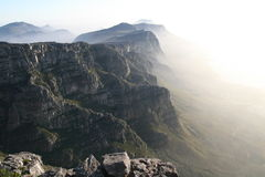 Table mountain. Vieuw from table mountain cape town Royalty Free Stock Photos