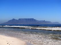 Table Mountain. From beach at Blouberg Cape Town South Africa Stock Photo