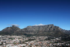 Table Mountain. At the foot of Cape Town South Africa Royalty Free Stock Photo