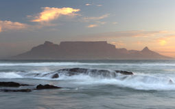 Table Mountain. South Africa at sun-set Stock Images