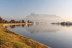 Table Mountain. Cape Town, South Africa as seen from the suburb of Milnerton Royalty Free Stock Photography