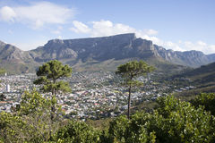 Table Mountain and the 12 Apostles range Cape Town S Africa Royalty Free Stock Image