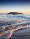 Table Mountain At Sunset Stock Photos
