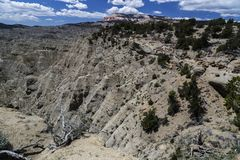 Table Mountain and Badlands at Powell Point near Escalante Utah Royalty Free Stock Photo
