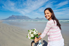 Table mountain bicycle Royalty Free Stock Photo