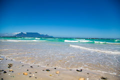 Table Mountain from Blouberg Stock Image