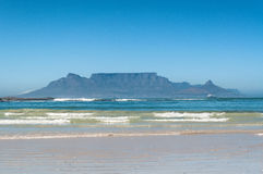 Table Mountain for blouberg strand Royalty Free Stock Images