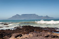 Table Mountain for blouberg strand Stock Photos