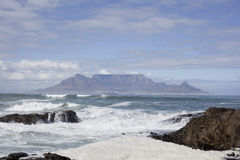 Table Mountain from Bloubergstrand. Table Mountain, Cape Town, from Bloubergstrand beach, Western Cape, South Africa Royalty Free Stock Image