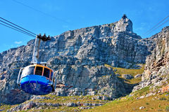Table mountain cable way Royalty Free Stock Images