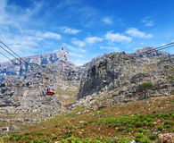 Table mountain cable way in cape town, south africa Royalty Free Stock Photography