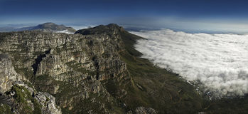 Table Mountain, Cape Town. Clouds covering Cape Town, South Africa Royalty Free Stock Photos