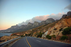 Table Mountain in Cape Town from the road Royalty Free Stock Photo